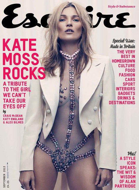 凱特摩絲近日為英國版《Esquire》君子雜誌拍攝九月封面,這也是她17年來首度...