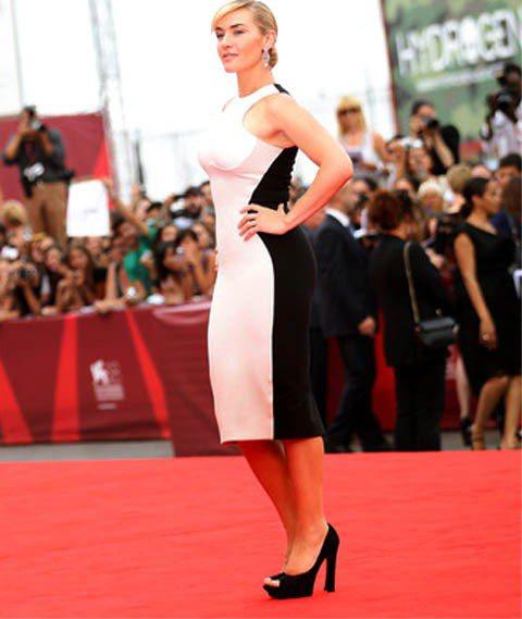 凱特溫絲蕾爆料好友李奧納多和她在拍《鐵達尼號》時總愛取笑她的大腳。圖/達志影像