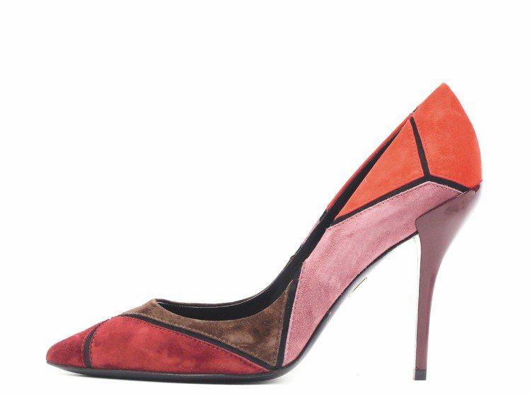 Roger Vivier的Prismick粉色高跟鞋,33,200元。圖/迪生提...