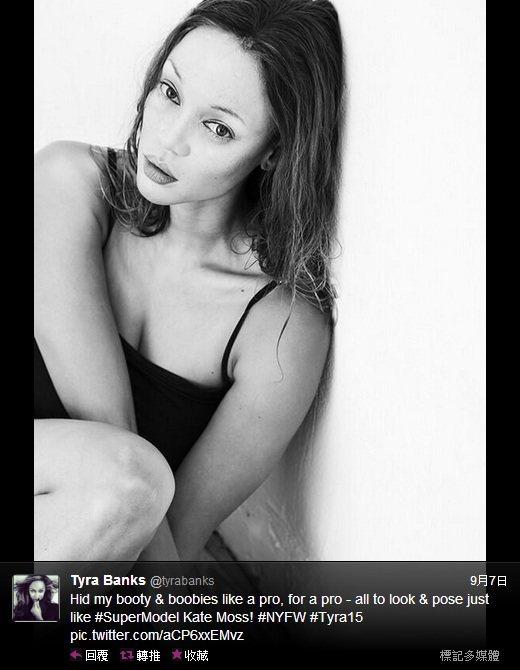 泰拉班克斯(Tyra Banks)試圖模仿早期凱特摩絲的瘦弱身形和迷濛電眼。圖/...