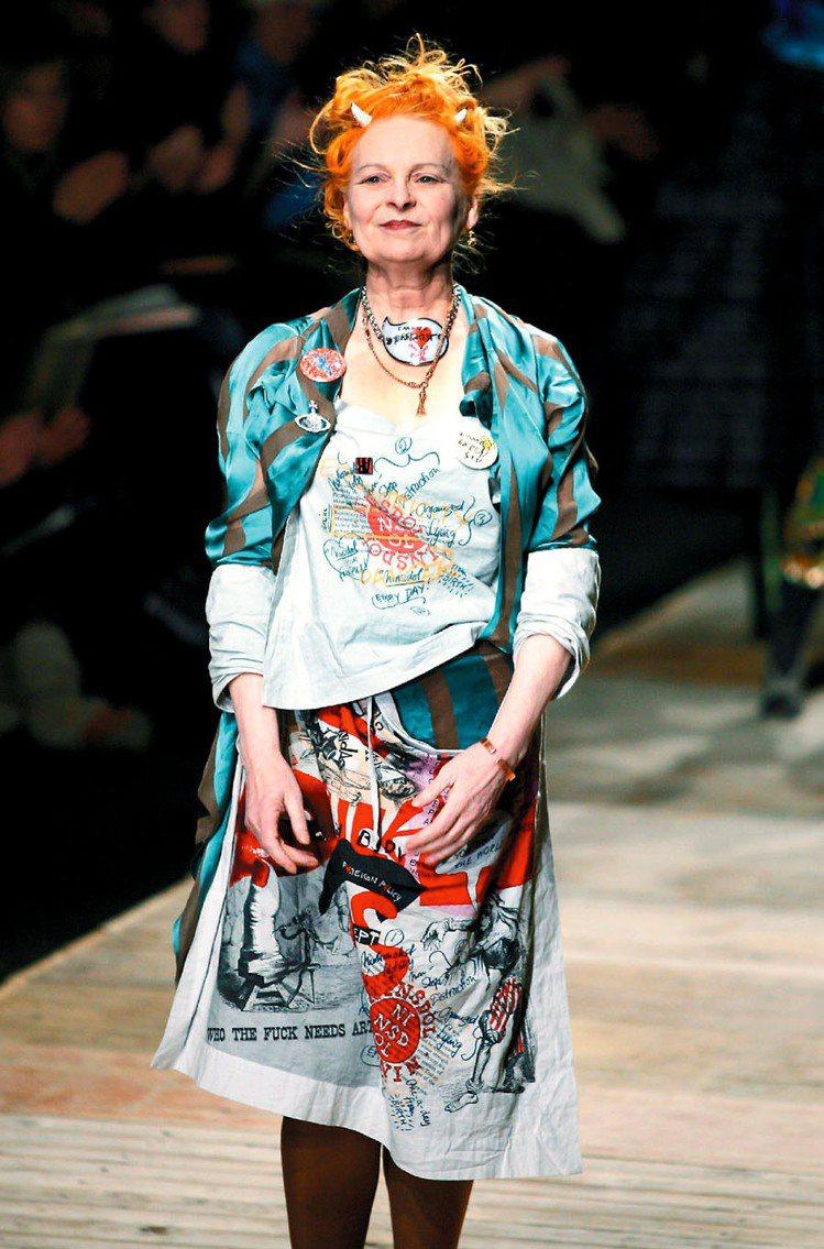 英國龐克教母Vivienne Westwood。圖/路透
