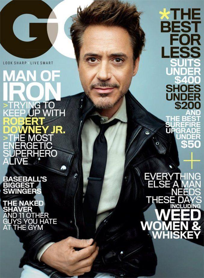 小勞勃道尼Robert Downey Jr.登美國版《GQ》5月號。圖/GQ提供