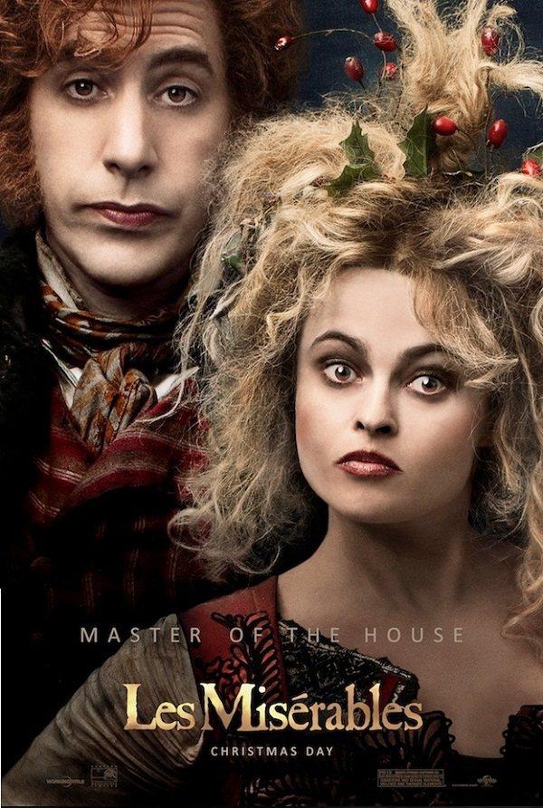 薩夏與海倫娜在《悲慘世界》再次以怪誕裝扮和有趣的角色讓人印象深刻。圖/環球提供