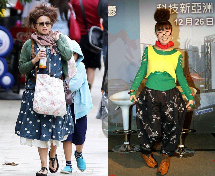 海倫娜熱愛層層疊疊的造型,特別是裙裝,那種經常穿得像「cosplay」愛好者的模...