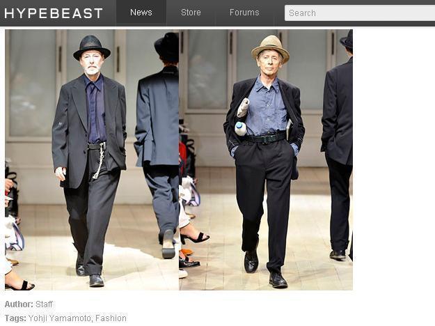 山本耀司09年的時尚秀中,用了不少老爺爺當模特兒。圖/擷取自hypebeast....