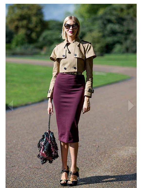 Elena Perminova擅長利用擁有單一強烈特色的單品穿出高質感的完美造型...