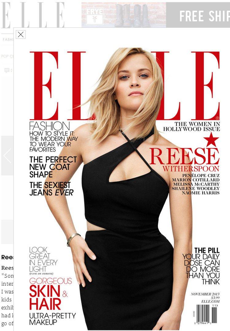 好萊塢女星瑞絲薇斯朋(Reese Witherspoon)備受觀眾喜愛。圖/擷取...