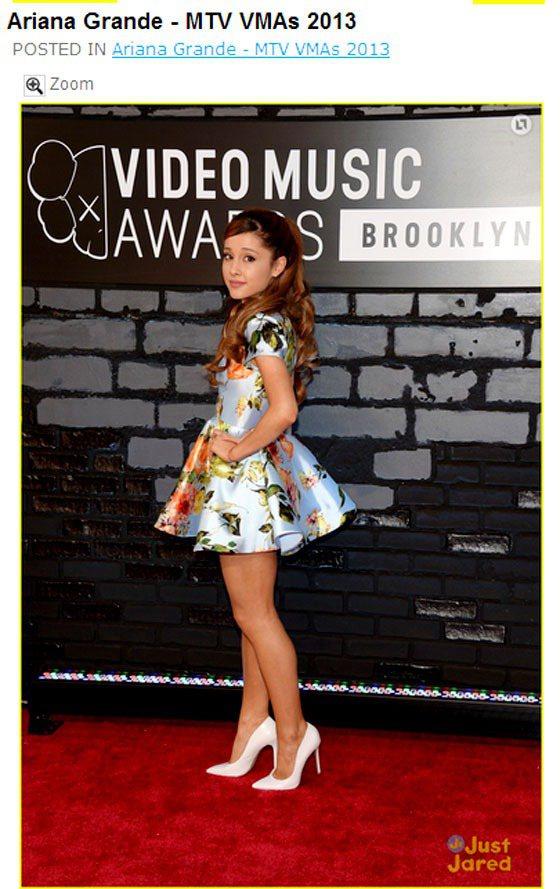 出席 2013MTV 音樂錄影帶獎走紅毯時,Ariana Grande穿了一件 ...