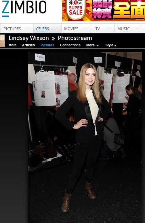 Lindsey Wixson喜歡以俐落簡單的外套做搭配。圖/擷取自zimbio....