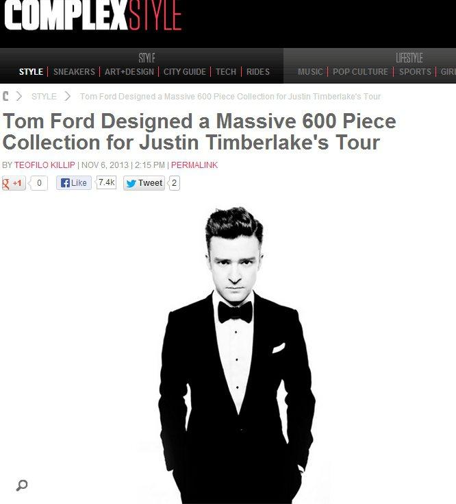 賈斯汀(Justin Timberlake)的《20/20》世界巡演請來Tom ...