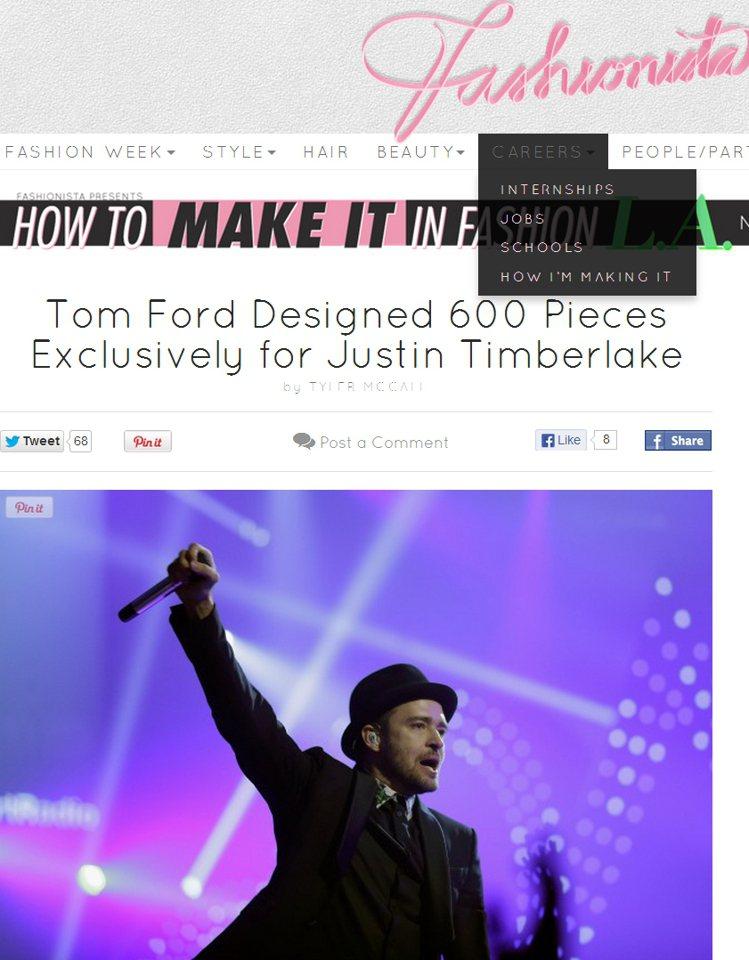 賈斯汀的巡迴演唱就像一場「Tom Ford世界服裝秀」。圖/擷取自fashion...