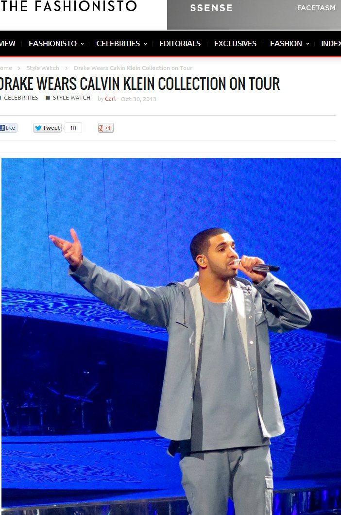 加拿大饒舌歌手Drake則與Calvin Klein合作,展現他一貫的美式簡約休...