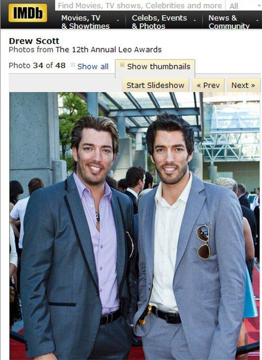 第6名雙胞胎Jonathan和Drew Scott兄弟。圖/擷取自IMDB