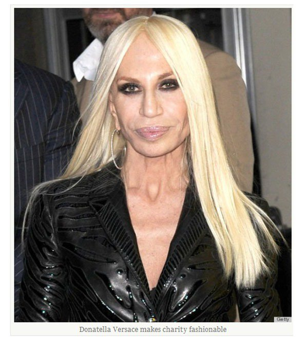 Donatella Versace 。圖/擷取自suffragettekitty...
