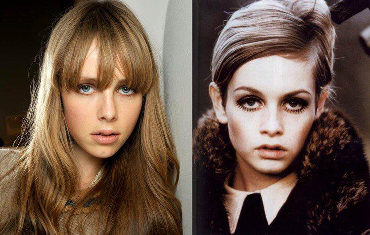 今年最紅的模特兒是有著和六○年代超模崔姬(Twiggy)相似眼神的 Edie C...
