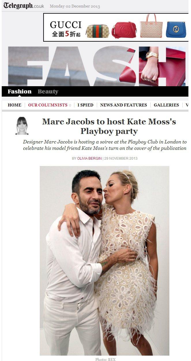 小馬哥(Marc Jacobs)與凱特摩絲是多年的時尚好友。圖/擷取自teleg...