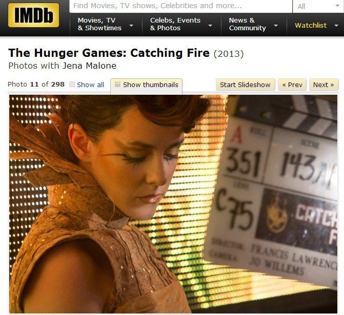 今年29歲的吉娜馬隆在《飢餓遊戲》系列電影中飾演來自第七區的貢品喬安娜曼森。圖/...