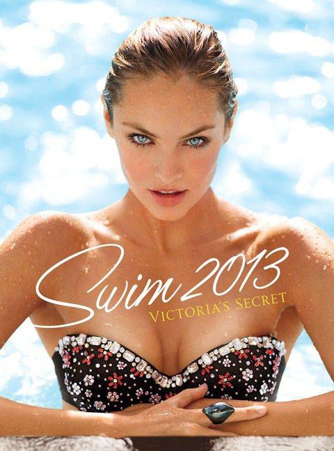 Candice Swanepoel獲選為2013維多利亞的秘密泳裝型錄封面女郎。...