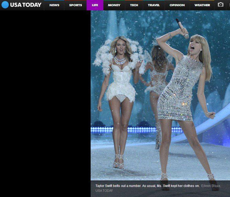 泰勒絲是維多利亞的秘密 2013 年度大秀的表演嘉賓,她雖然在秀上沒有穿得太露、...