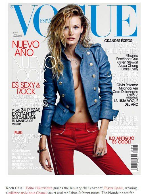 Edita Vilkeviciute很受國際時尚雜誌歐洲版的歡迎。圖/擷取自fa...