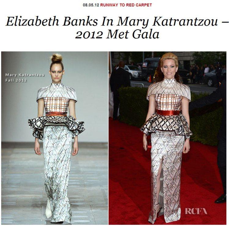 Mary Katrantzou多變的格紋與結構性層次,讓這身充滿奇異氛圍的禮服同...