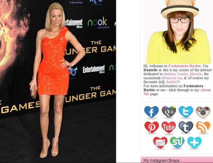 伊莉莎白身穿Versace洋裝,浪漫的立體花瓣為裙身帶來了奢華感,也使亮橘色調更...