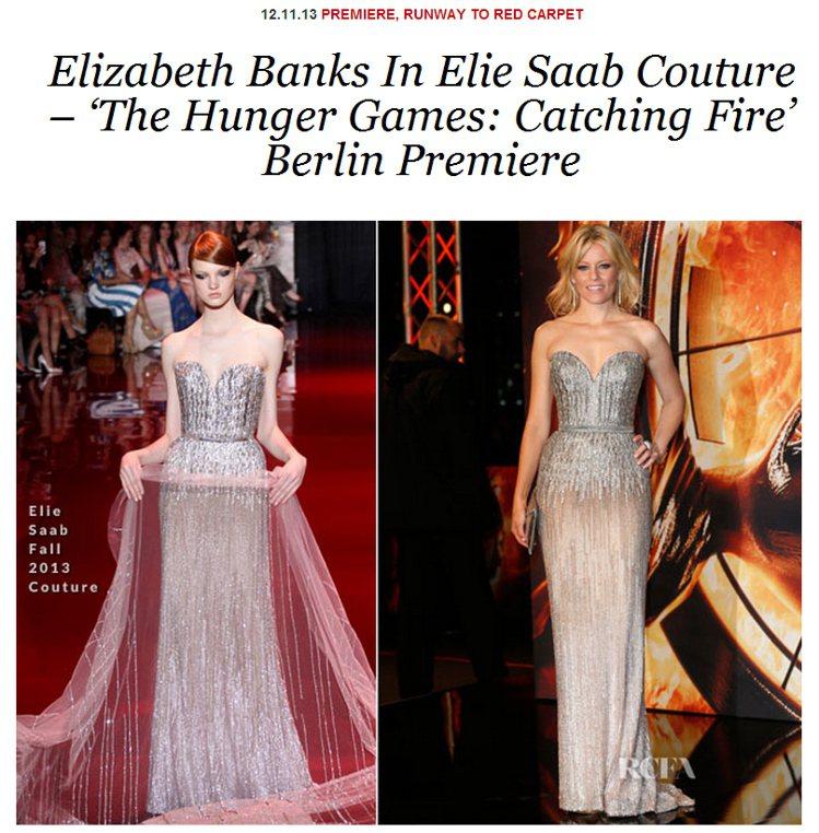Elie Saab 的銀色禮服壤她有如歌姬般華麗,又帶有女王的端莊氣息,漸層設計...