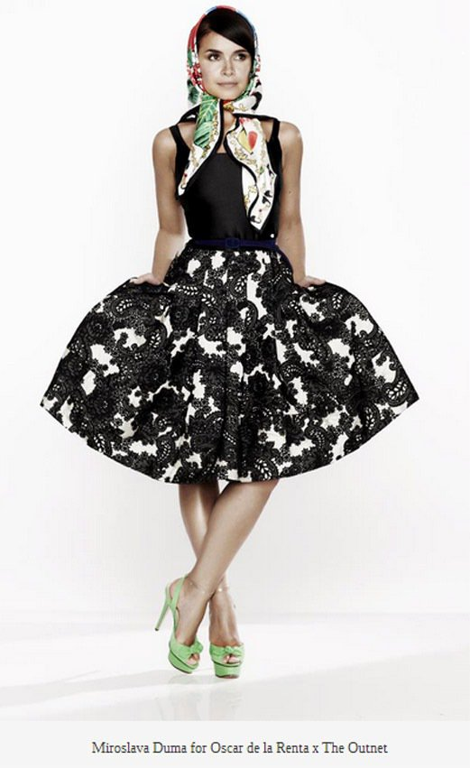 俄羅斯「It Girl」 Miroslava Duma代言Oscar de la...