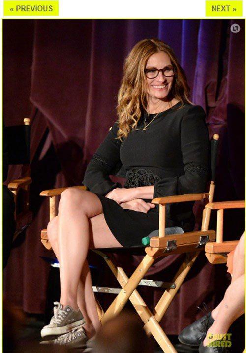 茱莉亞羅勃茲戴眼鏡的感覺和珍妮佛嘉納差不多,也是屬於事業有成的「女強人風格」。圖...