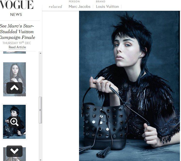 英國模特兒 Edie Campbell 加入拍攝行列。圖/擷取自vogue.co...