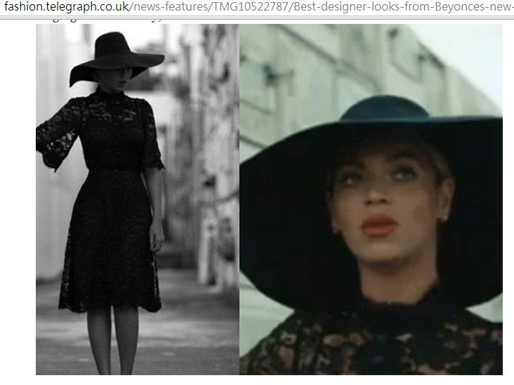 套上 Dolce & Gabbana 的 2013 秋冬系列蕾絲洋裝,搭配大頂黑...