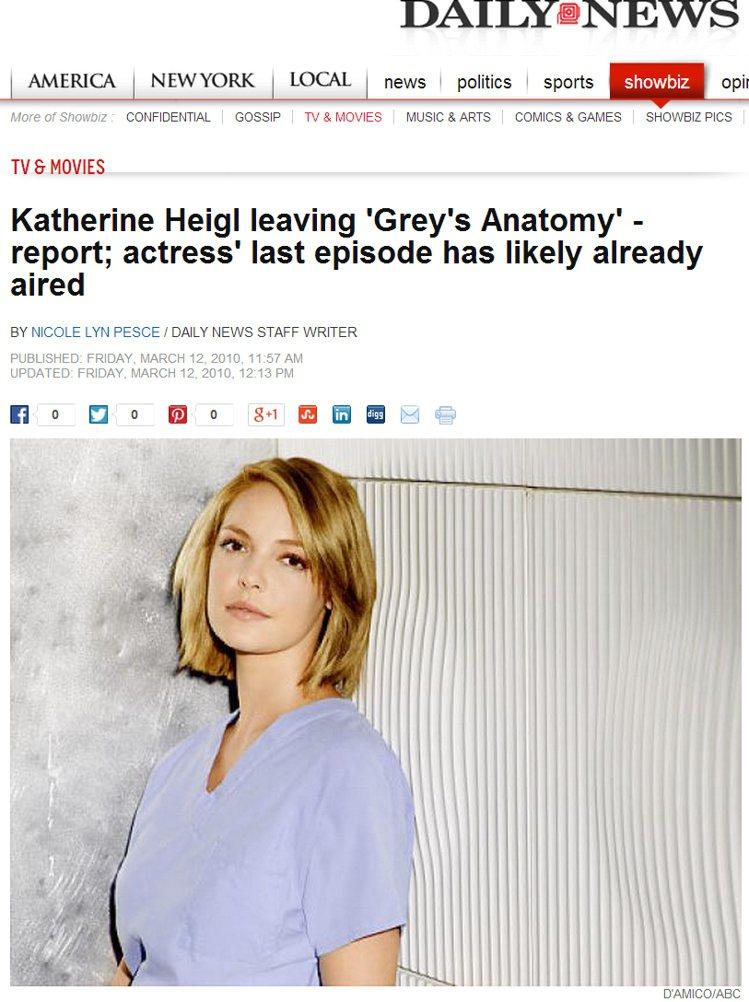 凱薩琳海格以「伊茲」醫生在《實習醫生Grey's Anatomy》裡有亮眼表現。...