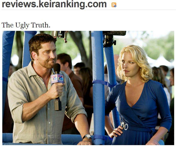 藍色 V 領洋裝,使她處處散發性感輕熟女的魅力。圖/擷取自reviews.kei...