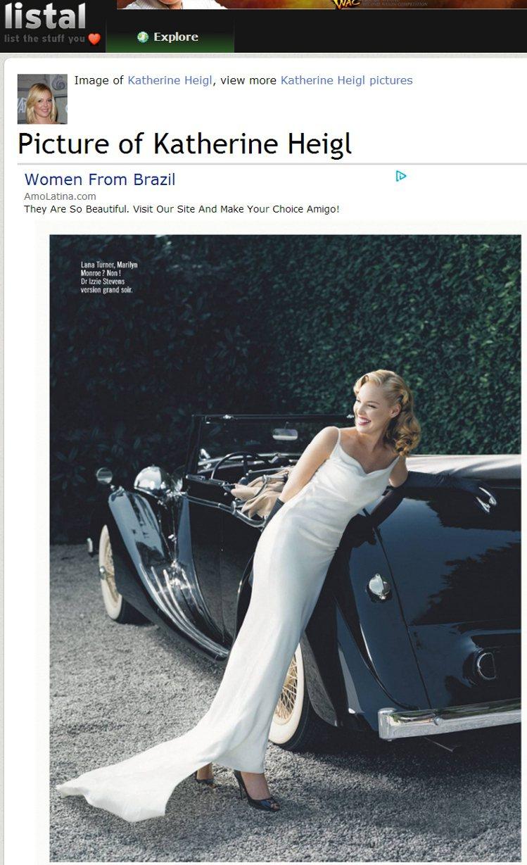 凱薩琳海格梳起復古捲髮,穿了一身白色長禮服,看起來十分清新又優雅迷人。圖/擷取自...