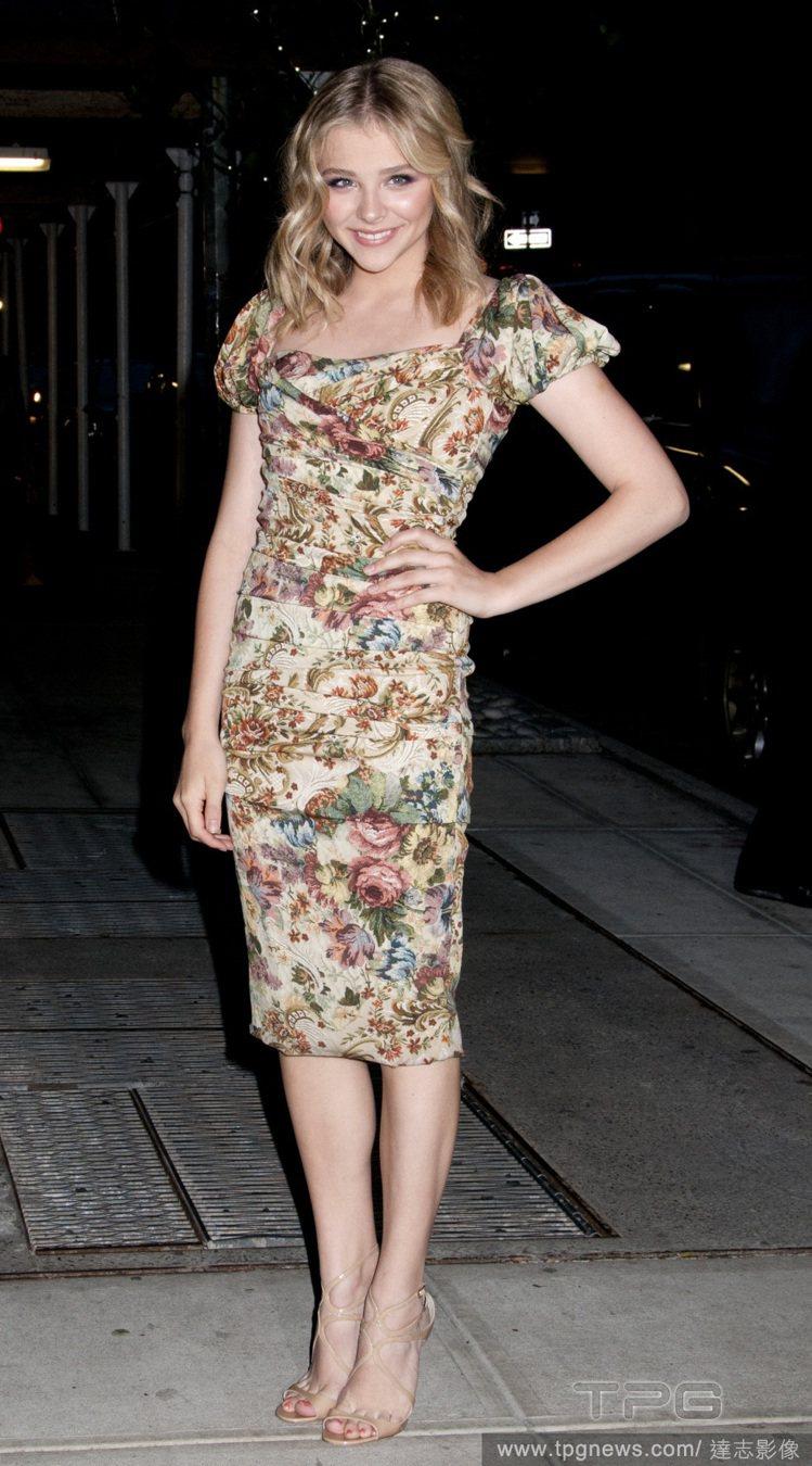 克蘿伊摩蕾茲在「世界百大美女」排名第三。圖/達志影像。圖/達志影像