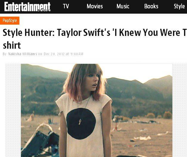 〈I Knew You Were Trouble〉這支錄影帶中,泰勒絲頭髮變短了...