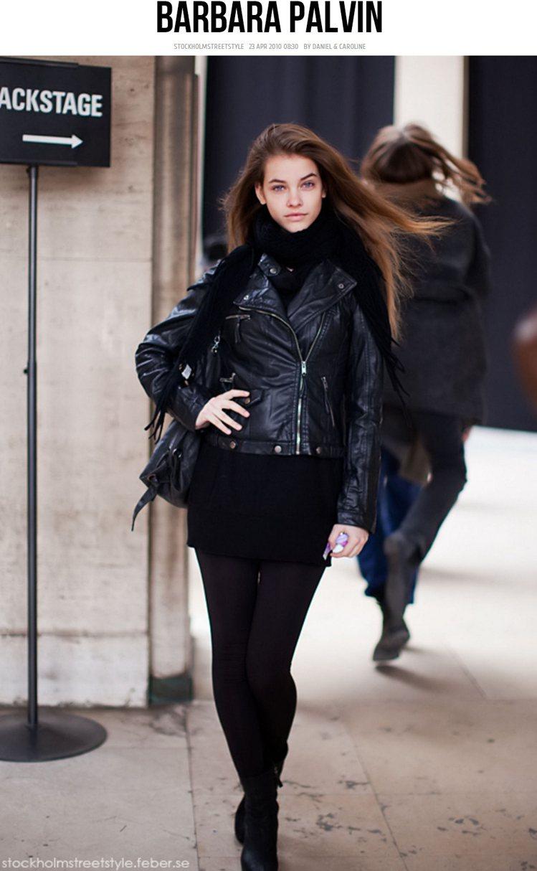 Barbara 私下常做皮衣加窄管褲的帥氣打扮。圖/擷取自carolinesmo...
