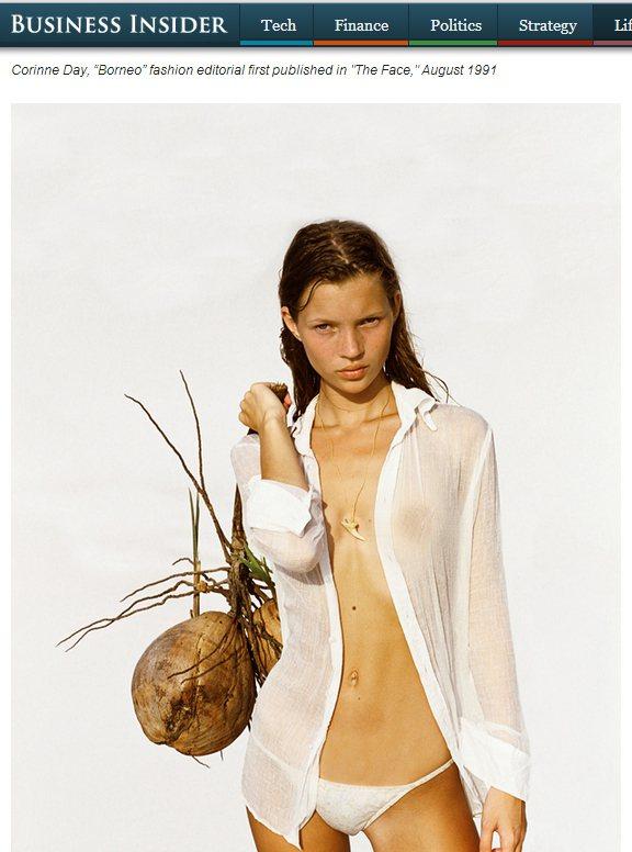 凱特摩絲年輕時拍的照片青澀無比。圖/擷取自businessinsider.com