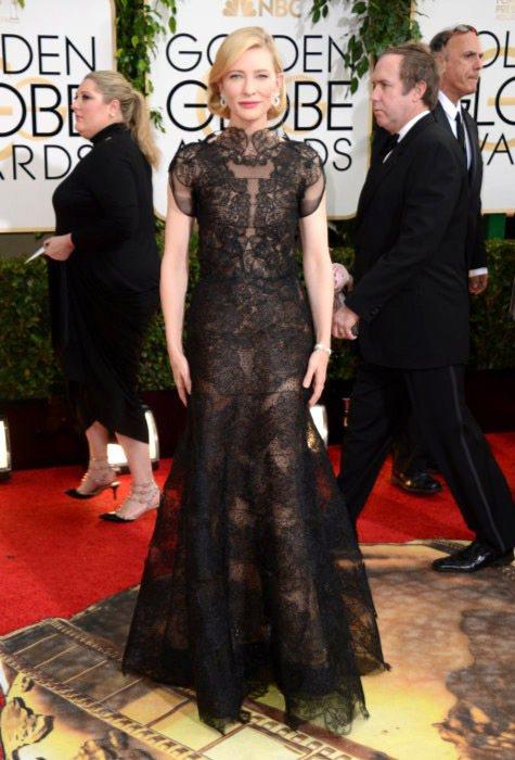 以《藍色茉莉》一片入圍劇情類最佳女主角的凱特布蘭琪,選擇代言品牌 Armani ...