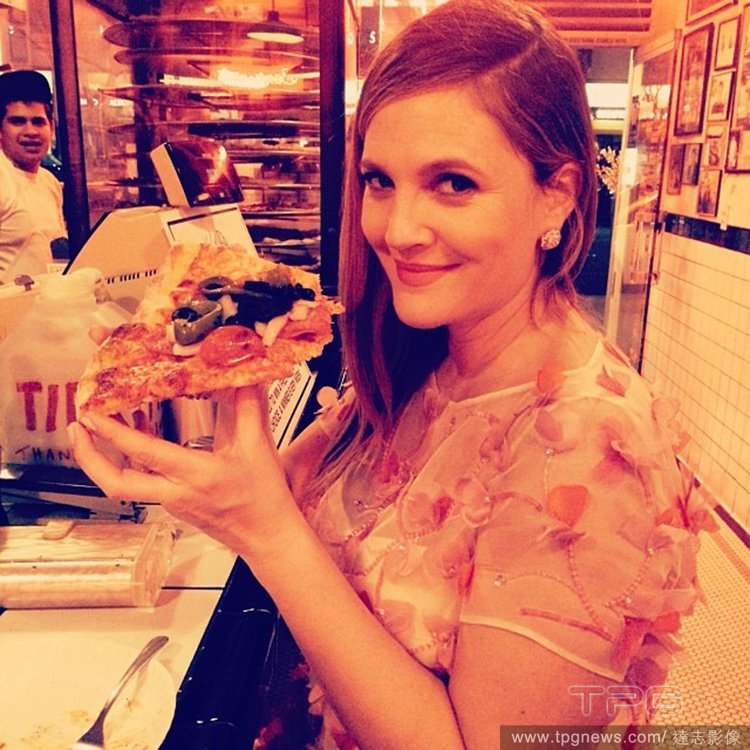 茱兒芭莉摩很享受懷孕期間能享有的特權,包括大吃披薩和意大利麵。圖/達志影像