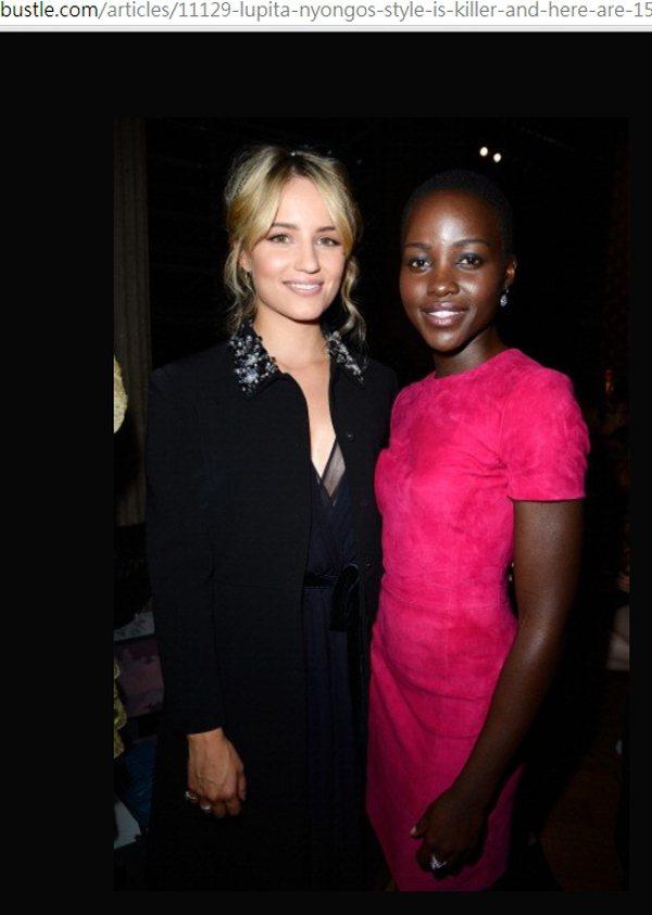 露琵塔妮詠奧(右)自從看了琥碧戈柏(Whoopi Goldberg)在《紫色姐妹...