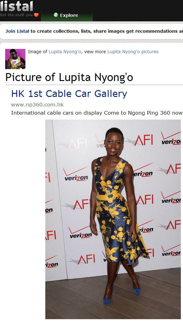Carolina Herrera 洋裝的緞面藍以黃色印花點綴,看起來優雅活潑,V...