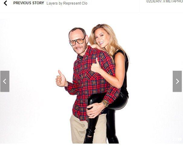 芭兒拉法莉與知名的攝影師 Terry Richardson 。圖/擷取自hype...