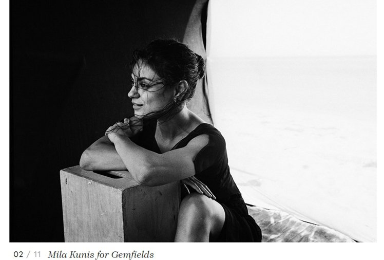 蜜拉庫妮絲(Mila Kunis)拍攝頂級彩色珠寶商 GEMFIELDS 廣告展...