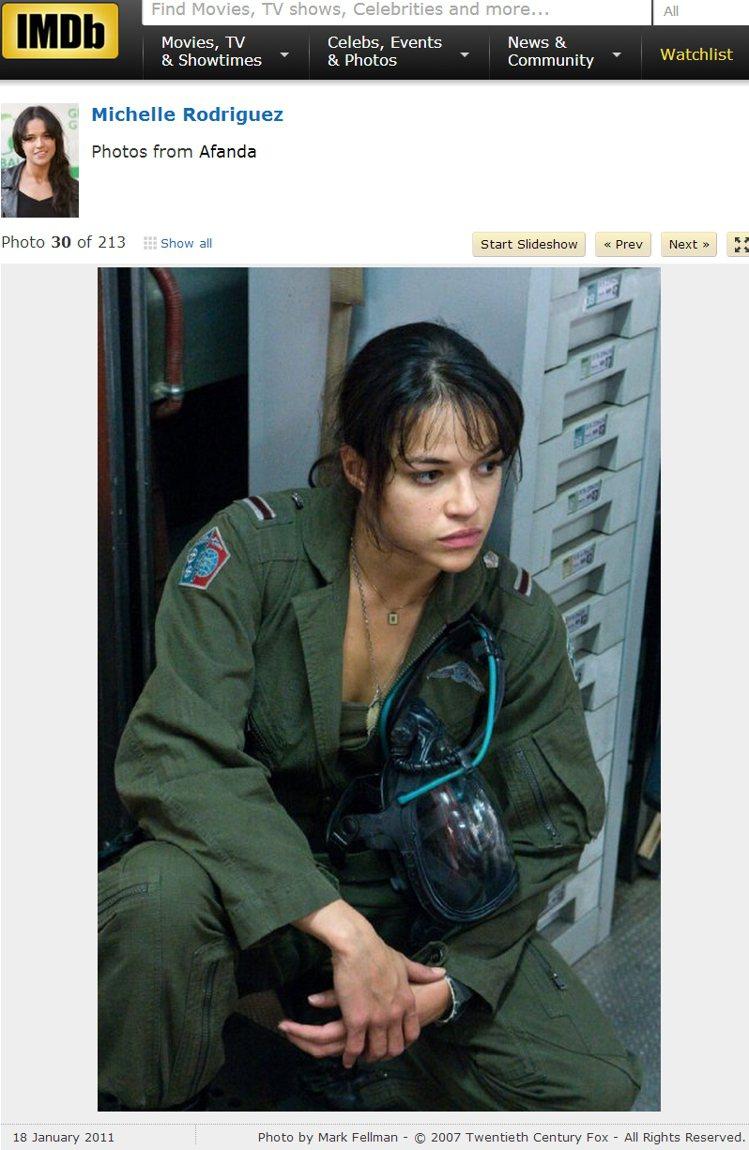 演過《阿凡達》、《惡靈古堡V》、《玩命關頭》系列電影的蜜雪兒羅莉葛茲(Miche...
