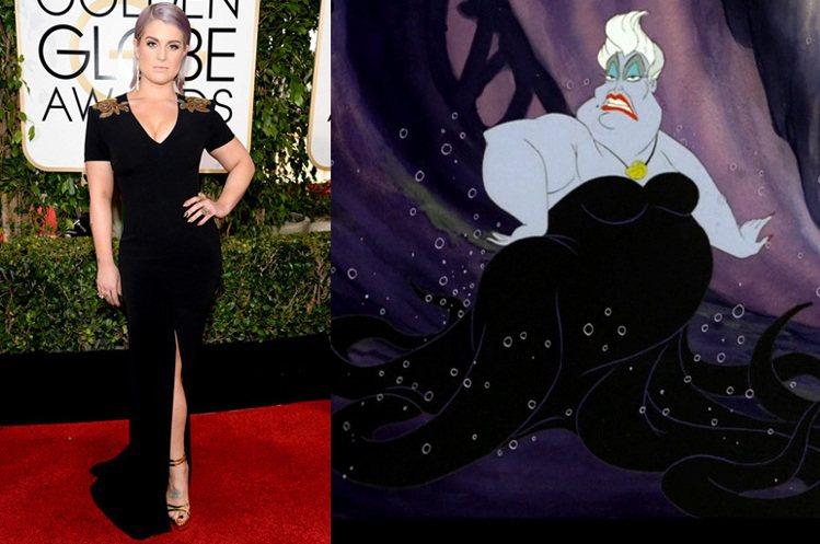 凱莉奧斯本曾在金球獎上穿上一襲黑色深V禮服,髮色多變的她當時還是頂著一頭紫白色的...
