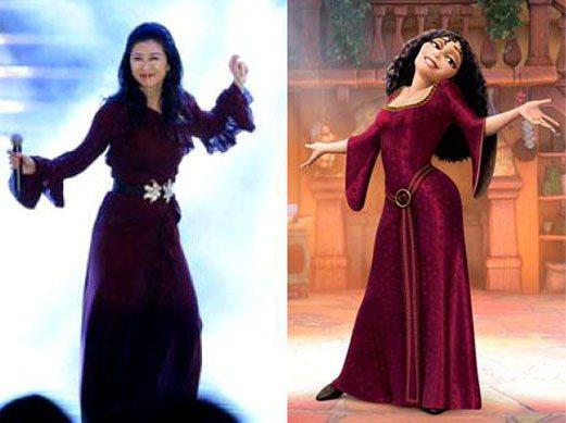最後獻上我們台灣的金馬獎迪士尼人物--葉蒨文於第49屆金馬獎擔任演唱嘉賓,她的造...