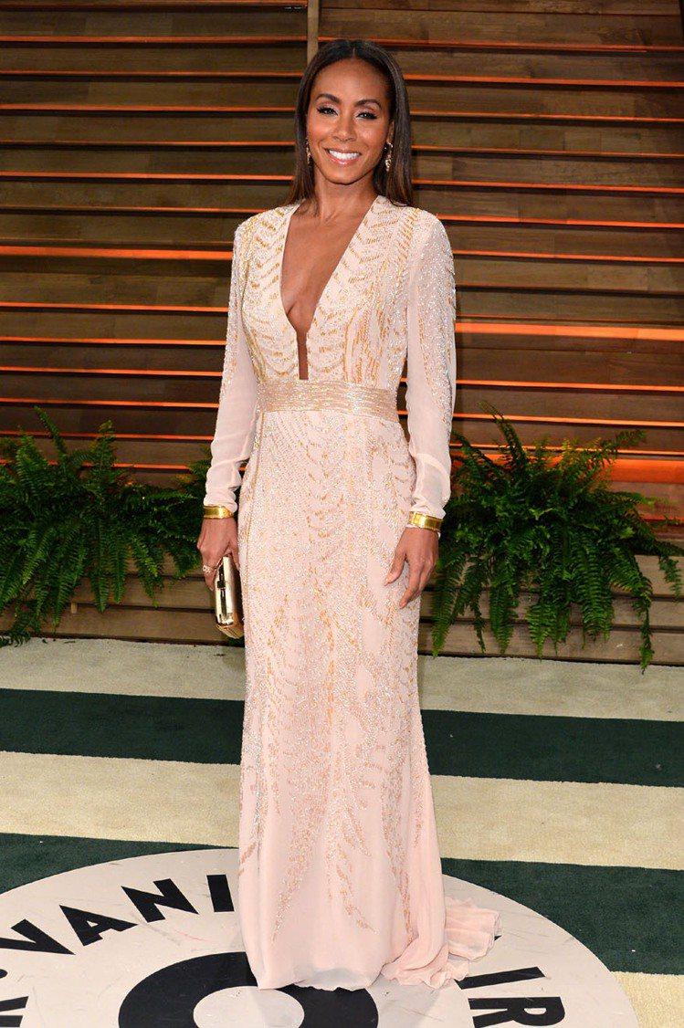 威爾史密斯老婆Jada Pinkett Smith穿 Roberto Caval...