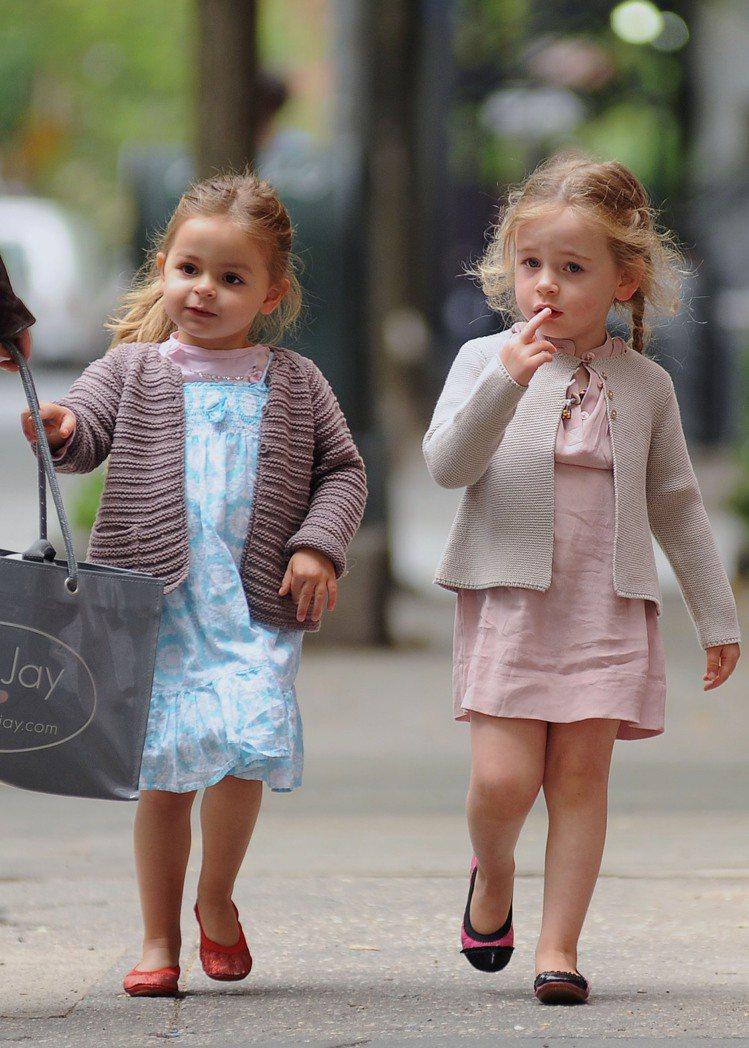目前四歲多的 Marion Loretta Elwell 和 Tabitha H...