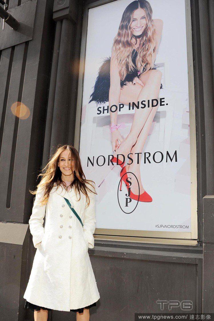 莎拉潔西卡派克最近忙著為自己的同名鞋款品牌 SJP 宣傳。圖/達志影像